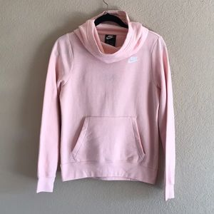 NWT! Nike cowl neck hoodie. Light pink.